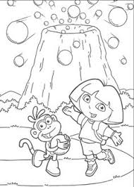 dora explorer bear coloring pages preschool