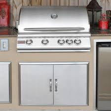 Outdoor Kitchen Cost Ultimate Pricing Blaze 32 Inch 4 Burner Built In Natural Gas Grill With Rear