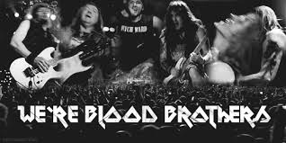 Meme And Nicko - gif mine black and white iron maiden heavy metal steve harris dave