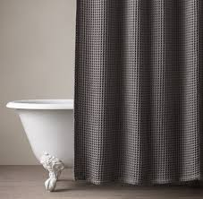 Grey Bathroom Curtains Grey Waffle Shower Curtain Shower Curtains Ideas