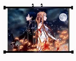 home decor anime poster wall scroll sword art online