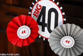 Mens 40th Birthday Decorations Black Red And Silver 40th Birthday Party For Him