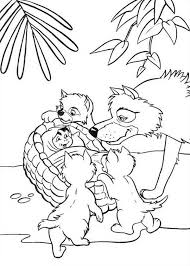 mowgli akela jungle book coloring pages bulk