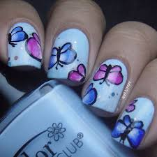 30 pretty butterfly nail designs