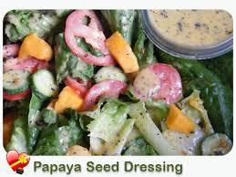 papaya seed dressing ilovehawaiianfoodrecipes hawaiian style