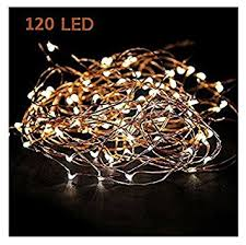starry string lights warm white color led s on a