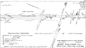 Chicago Heights Map by Chicago Il Railroad Train Interlocking Diagrams