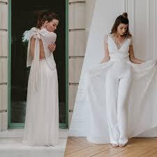 tenue mariage pantalon mariée en pantalon 12 tenues pour se marier en pantalon