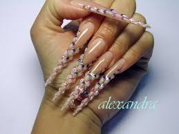 nail art stiletto nail art