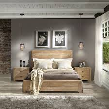 Bedroom Furniture Sales Online by Grain Wood Furniture Montauk Queen Solid Wood Panel Bed Rustic