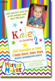 invitations maker cu1090 mister maker birthday invitation boys themed birthday