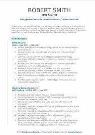 Health Informatics Resume Emr Specialist Resume Eliolera Com