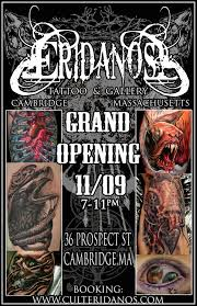 Shop Opening Invitation Card Format Eridanos Tattoo And Gallery U0027s First Annual