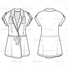 women u0027s utility top fashion flat template u2013 illustrator stuff