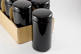 kitchen canisters black black jars 6 pack 500 ml miron violet glass containers