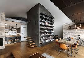 Exposed Brick Apartments Apartments Amazing Retro Style Apartment Interior Design Exposed