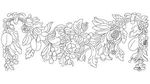 antique flower plaster decoration block in decorative elements