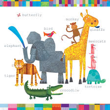 children s cards zoo animals blank greetings card karenza paperie
