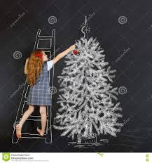 drawing christmas tree blackboard stock photos 258 images