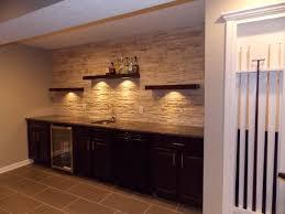wet bar wall shelves