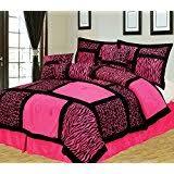 Pink And Black Bathroom Accessories by Amazon Com 19 Piece Bath Accessory Set Pink Zebra Bathroom Rugs