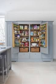 grey larder storage space in bespoke kitchen design anthony
