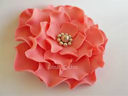 flower fondant cakes 2 fondant edible flowers roses coral wedding silver decor