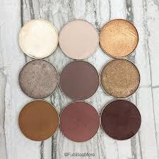 makeup geek eyeshadows in rapunzel and baby face top row moondust brownie points