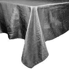 60 x 102 silver taffeta crinkle tablecloth smarty had a
