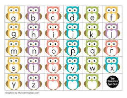 themed letters printable owl themed alphabet for preschoolers
