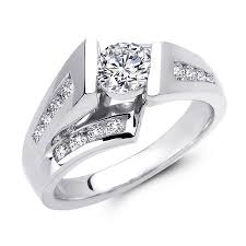 floating diamond ring floating channel set diamond engagement ring at ari diamonds