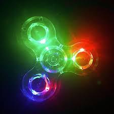 a light up fidget spinner led fidget spinner cpei clear led light up fidget finger dice anti