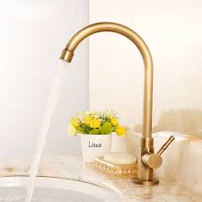 antique brass kitchen faucet antique brass vessel cold water kitchen sink faucets 75 99