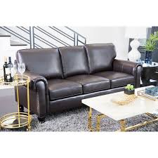 leather sofa free delivery abbyson london top grain leather sofa free shipping today
