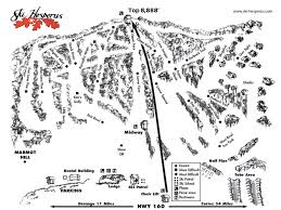 Colorado Ski Map by Hesperus Ski Area Colorado Ski Country Usa