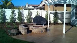 Cover Concrete With Pavers by Ventura Landscape Design Fire Pit Wood Patio Cover Stamped And