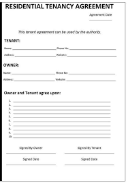 template for a lease agreement rental property lease agreement