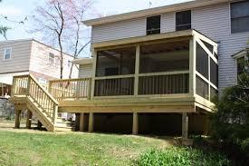 Screened In Pergola by Back To Nature Decks Philadelphia Deck Builders Decks