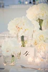 White Roses Centerpiece by Best 20 Peonies Wedding Centerpieces Ideas On Pinterest White