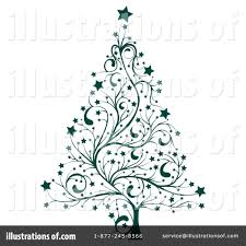 christmas tree clipart 78278 illustration by milsiart