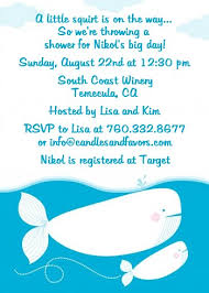 whale baby shower invitations whale baby shower invitations candles and favors