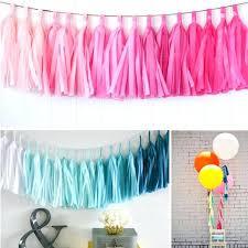in party supplies diy party banner hot kits wedding tissue tassel garland paper banner