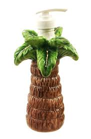 themed soap dispenser palm tree kitchen theme palm tree 2 pc cookie jar with wood rack