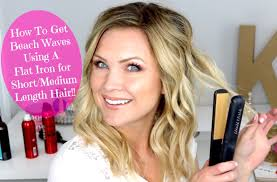 pictures of medium length hairstyles for fine hair beach waves using a flat iron for short medium length hair youtube