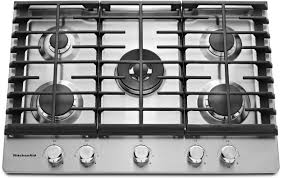 kcgs550ess kitchenaid 30 u0027 u0027 5 burner gas cooktop with even heat
