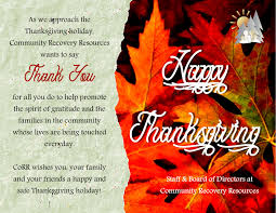 dysfunctional family thanksgiving news community recovery resources part 3