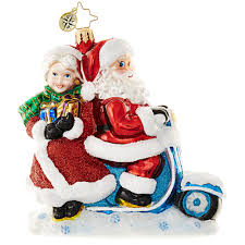 christopher radko ornament 2016 radko scooter for two mr mrs