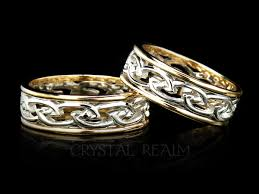 celtic rings bands images Celtic open flowing eternal knot band puzzle rings engagement jpg