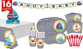 nautical theme baby shower ahoy nautical baby shower party supplies party city