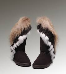 womens ugg boots fox fur uggs ansley slippers on sale ugg fox fur boots 8688